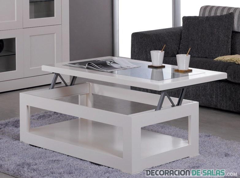 mesa de centro elevable para salón