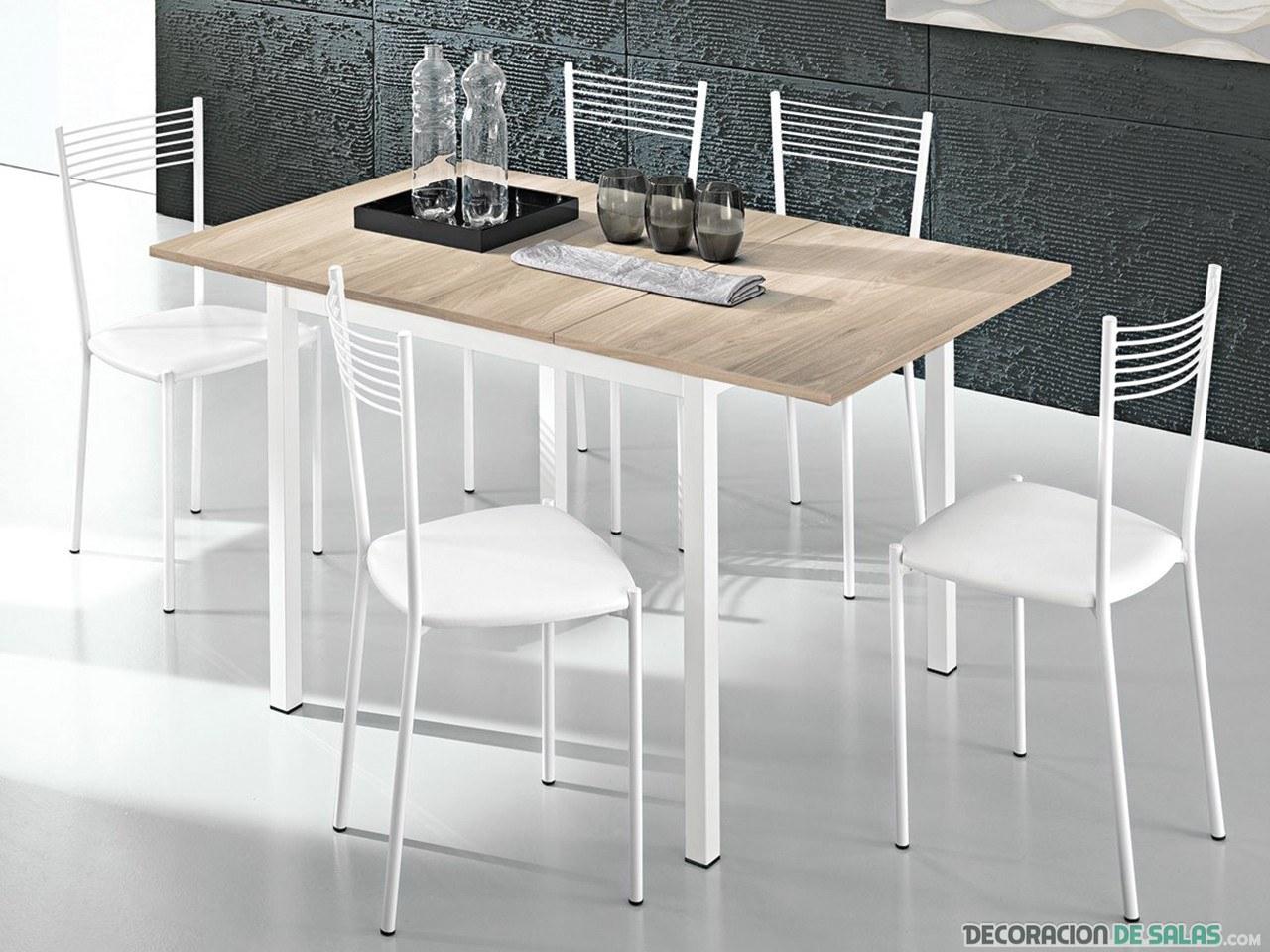 mesa de cocina sencilla blanca