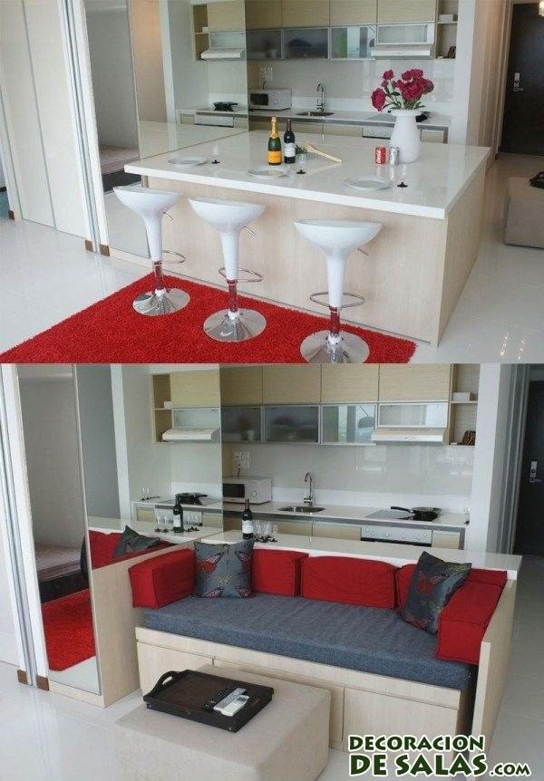 mesa de comedor convertible en mueble