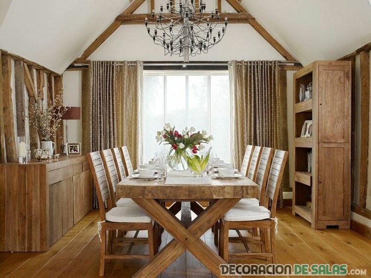 4 comedores decorados con estilo campestre | Decoración de Salas