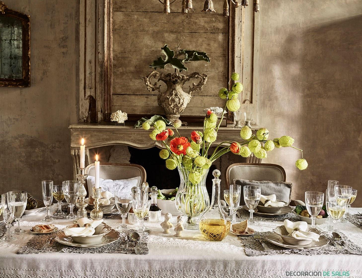 mesa decorada con zara home