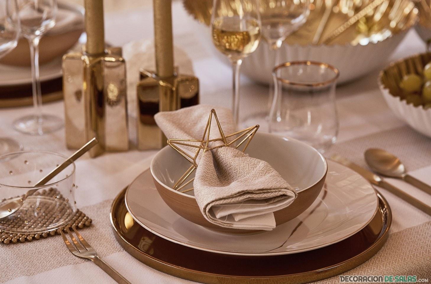 mesa navidad decorada zara