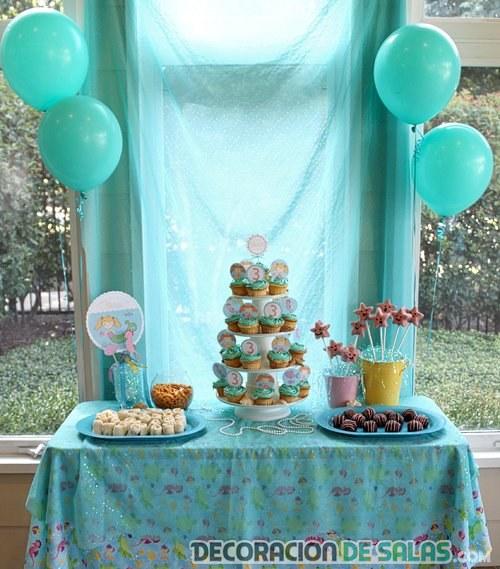 mesa para tarta de cumpleaños