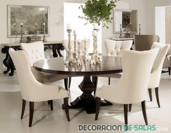mesa redonda comedor elegante