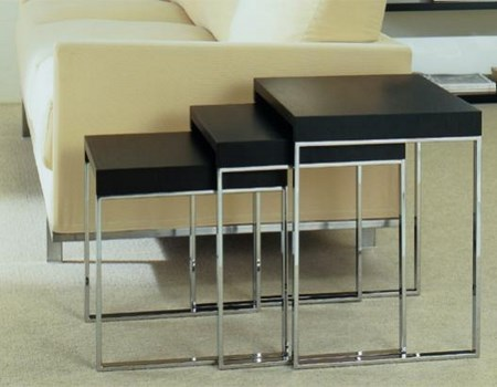 mesas negras para salones pequeños