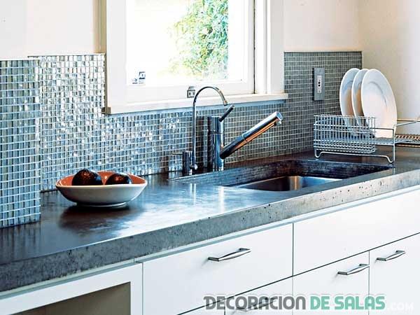 mosaicos en color azul para cocinas