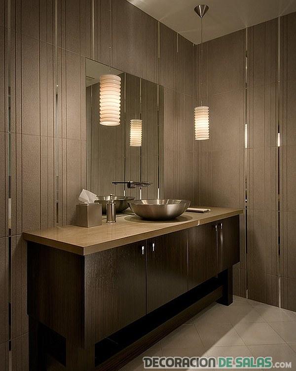 mueble de baño en madera rústica