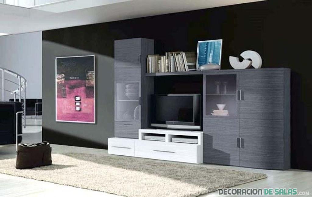 mueble de salón color ceniza