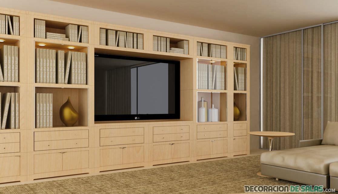 mueble de salón en madera