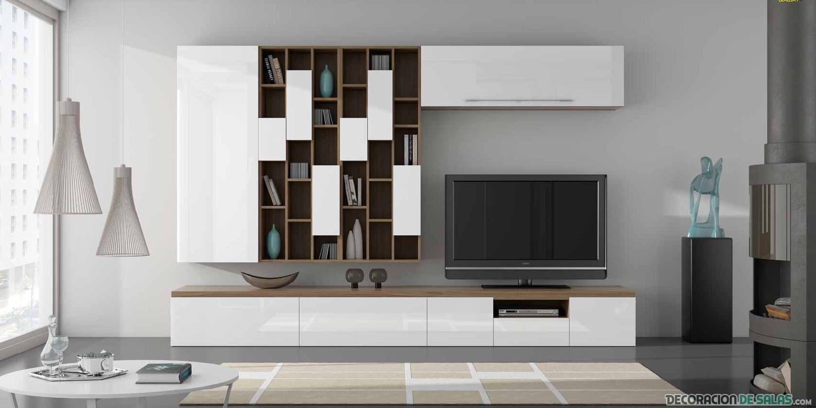 mueble del salón en color blanco