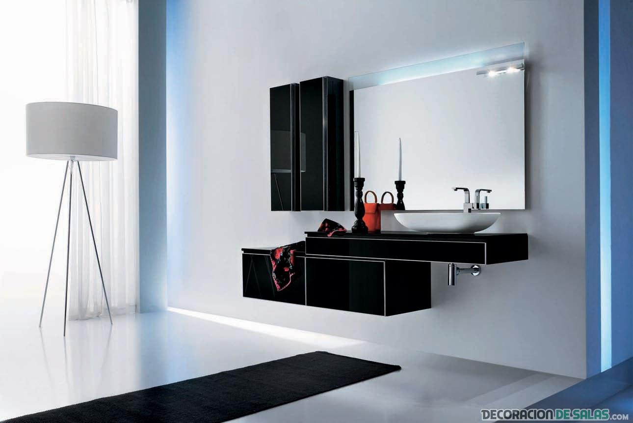 mueble funcional de baño en color negro