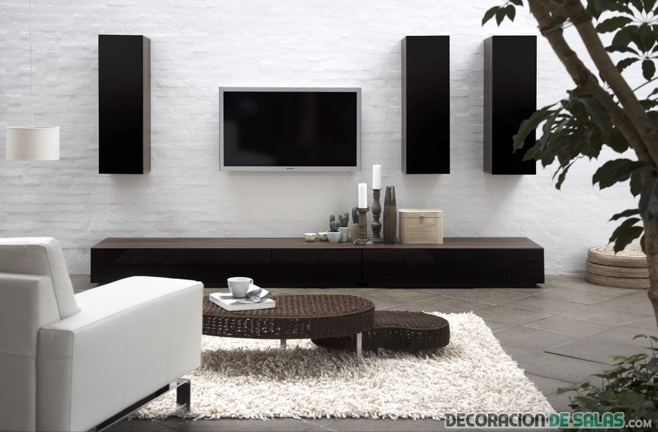 mueble minimalista para el salón