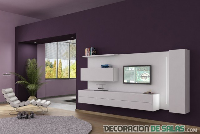 mueble salon colgado en pared