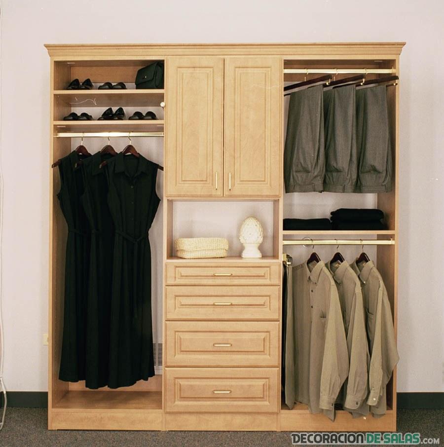 mueble vestidor para habitaciones pequeñas
