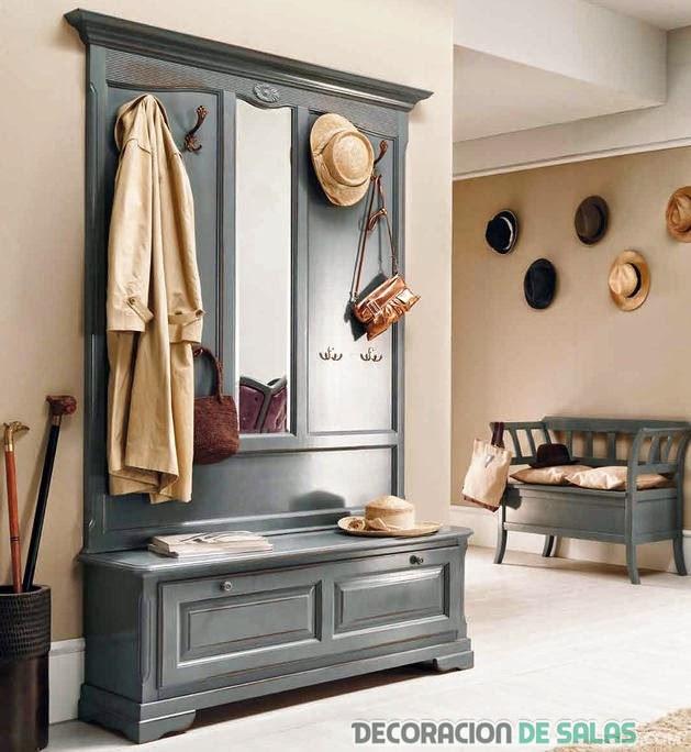 mueble vintage recibidor multifuncional