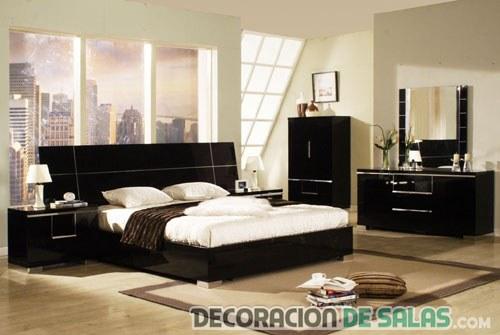 muebles de dormitorio en color negro