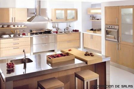 muebles de madera de cocina