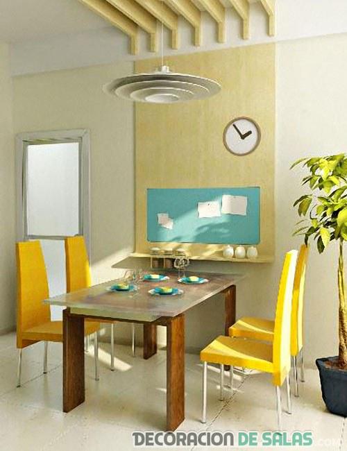 muebles del comedor en colores