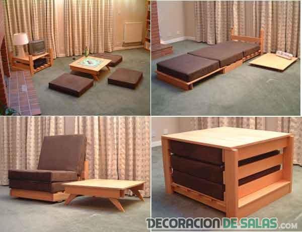 muebles funcionales salón y dormitorio