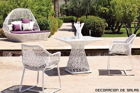 Materiales De Los Muebles De Jardín Decoración De Salas