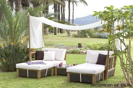 muebles jardin mimbre