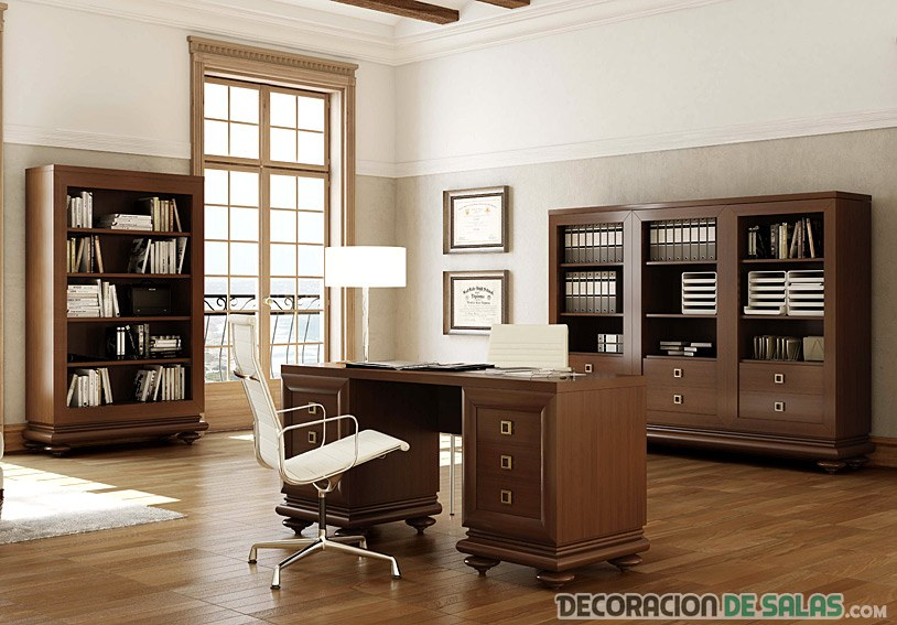 muebles madera para despacho