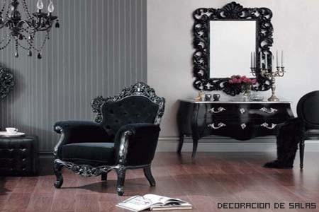muebles negros barrocos