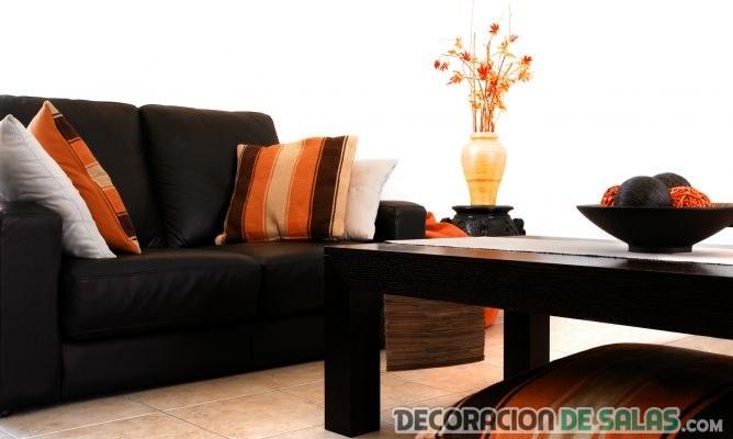 muebles wengué con naranja