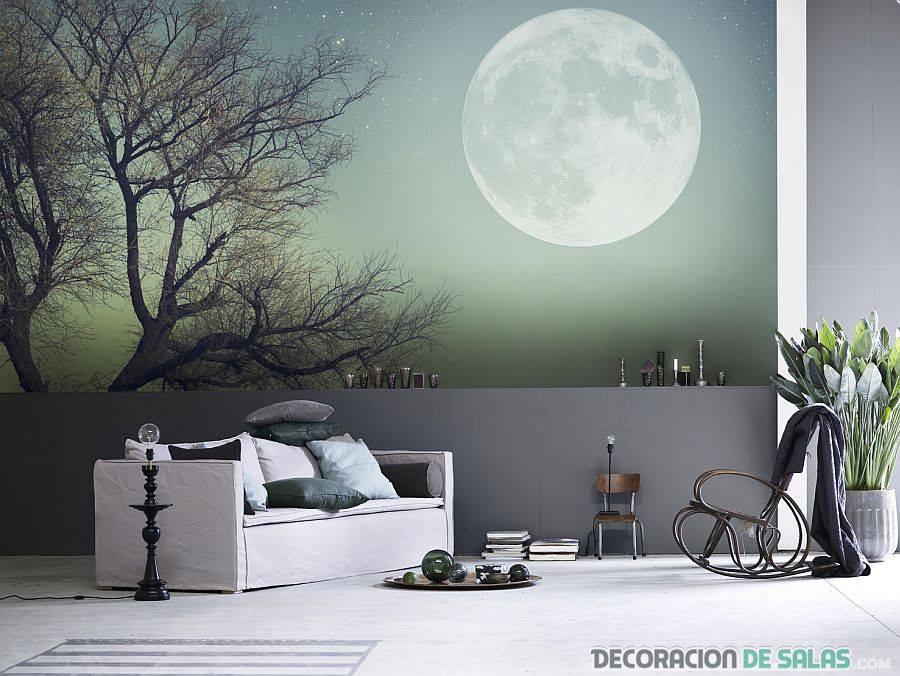 mural con paisaje nocturno