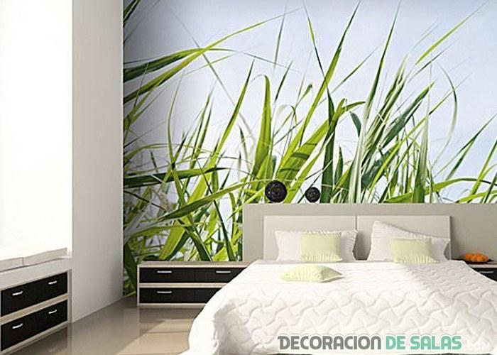 mural sencillo para la pared del dormitorio