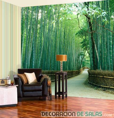 murales de paisajes para el salón
