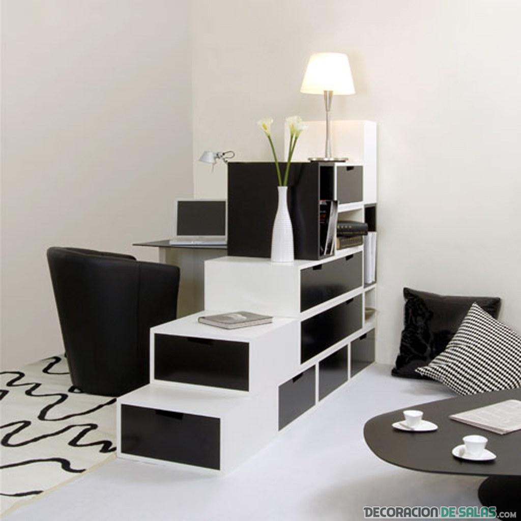 oficina bicolor en blanco y negro
