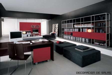 oficina en el salón