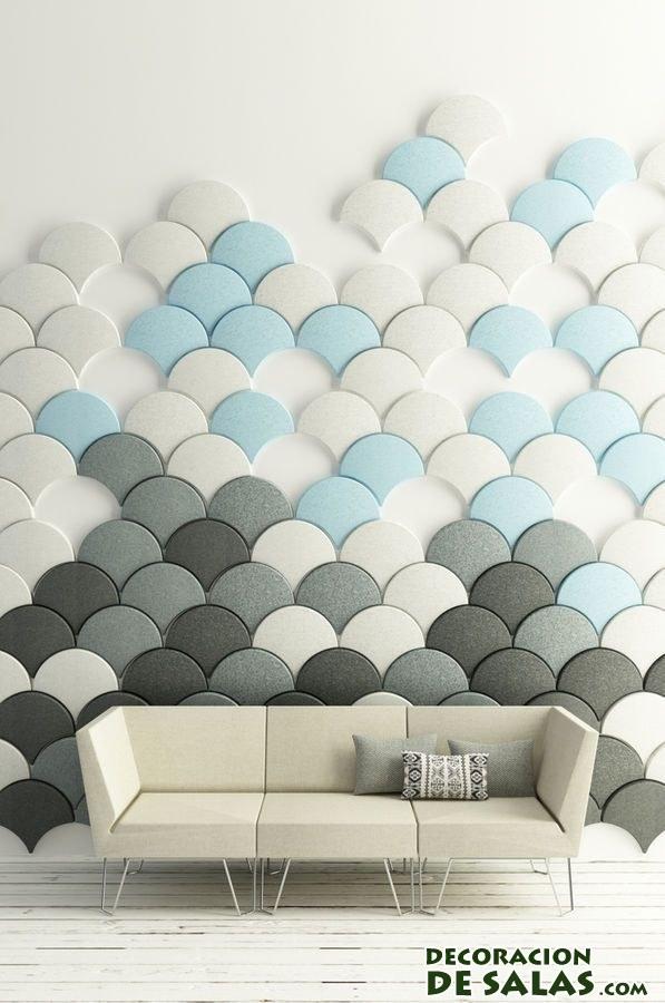 paneles acústicos en color azul