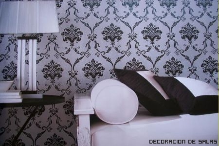 papel tapiz blanco y negro