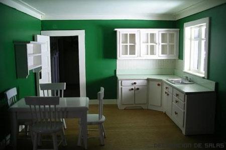 pared cocina verde