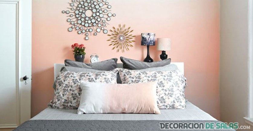 pared con color rosa degradado