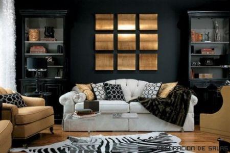 pared contraste sofa