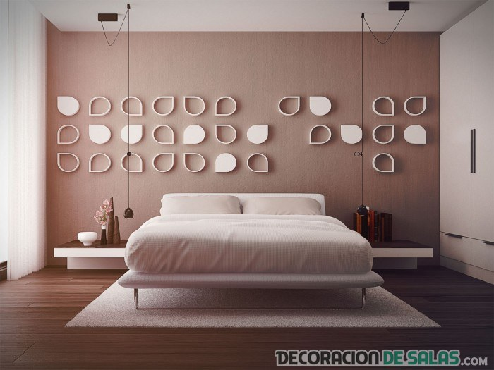 pared de dormitorio en beige