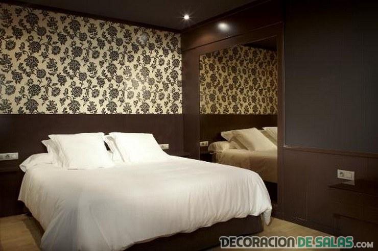 pared del dormitorio papel pintado
