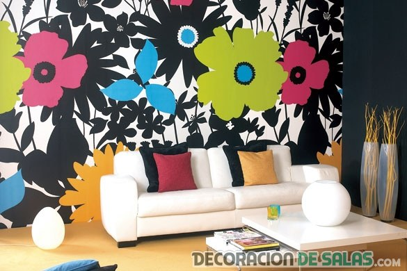 pared flores salon