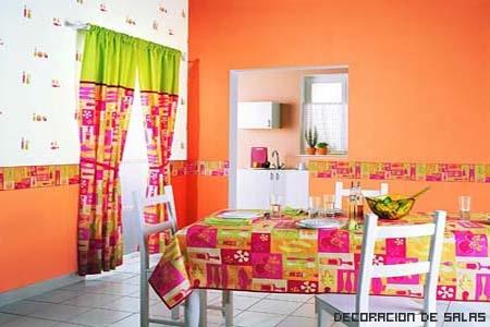 pared naranja
