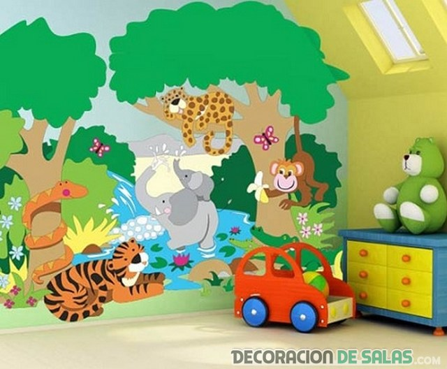 pared para cuarto infantil
