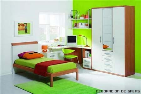 pared verde intenso