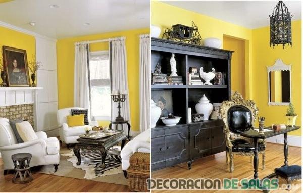 paredes amarillas para el salón