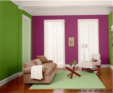paredes en colores vivos