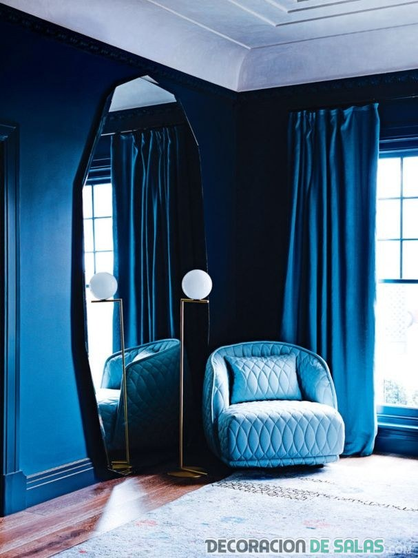 paredes color azul pantone