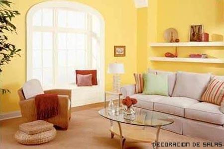 paredes salón amarillas