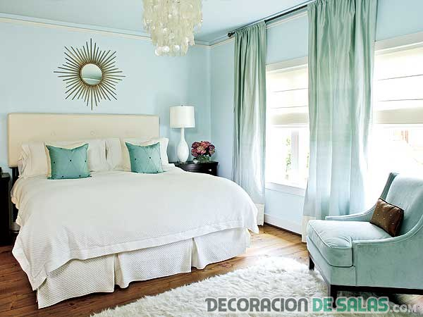 paredes tendencia en color azul