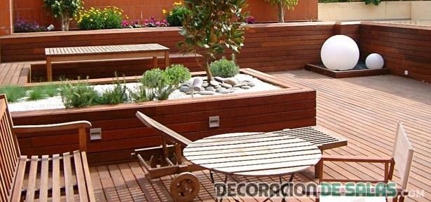 patio en madera